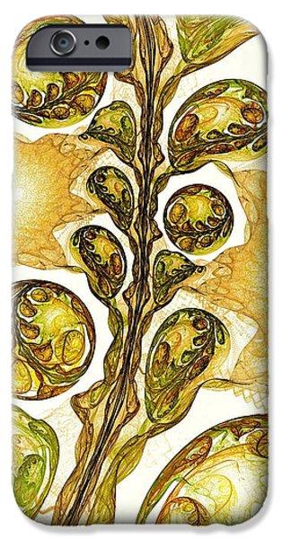 Leaves iPhone Cases - Green Plant iPhone Case by Anastasiya Malakhova
