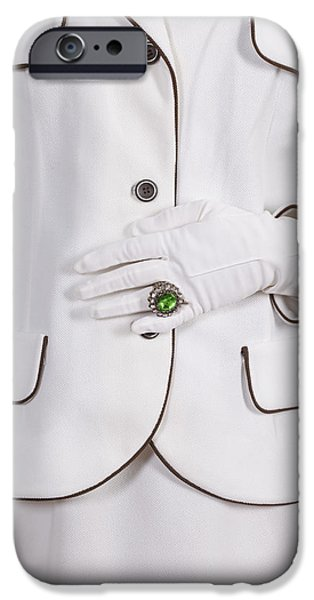 green ring iPhone Case by Joana Kruse