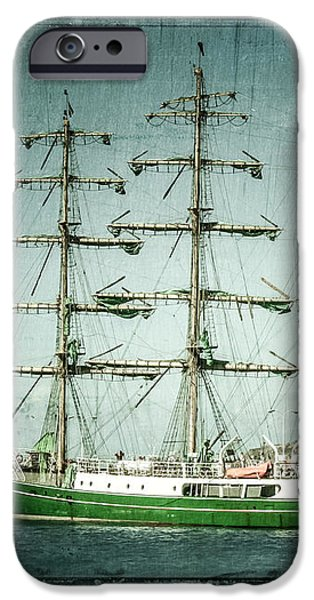 Green Sail iPhone Case by Perry Webster