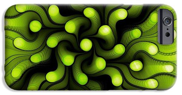 Marine iPhone Cases - Green Sea Anemone iPhone Case by Anastasiya Malakhova