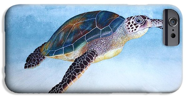 Recently Sold -  - Alga iPhone Cases - Green Sea Turtle II iPhone Case by Jeff Lucas