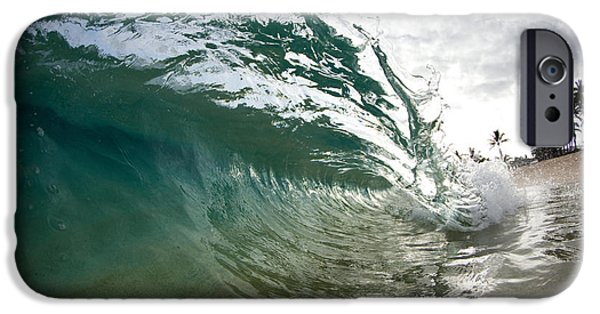 Surrealism Photographs iPhone Cases - Green Shimmer iPhone Case by Sean Davey