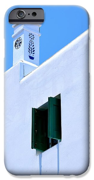 Building iPhone Cases - Green Shutters iPhone Case by Corinne Rhode