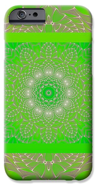 Green Space Flower iPhone Case by Hanza Turgul