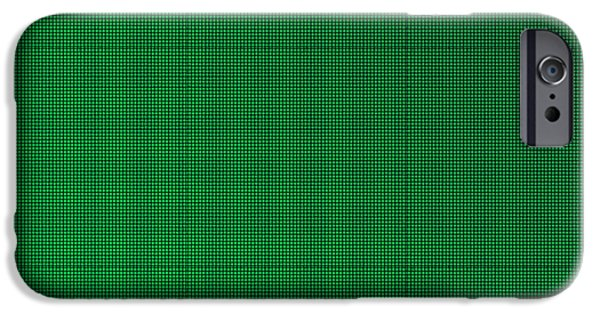 Emerald Green Abstract iPhone Cases - Green Squares Texture Background iPhone Case by Valentino Visentini