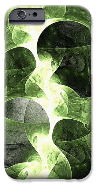 Abstracts iPhone Cases - Green Surge iPhone Case by Anastasiya Malakhova