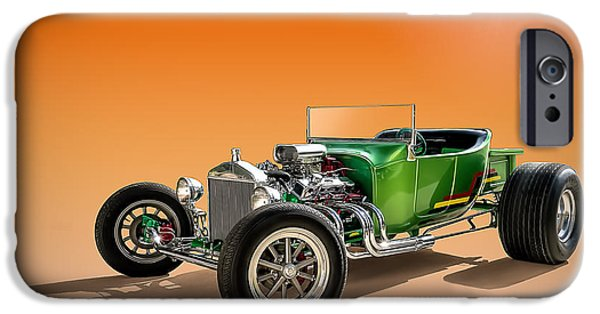 Model T iPhone Cases - Green T With an Orange Twist iPhone Case by Douglas Pittman