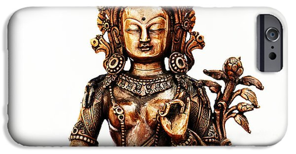 Bodhisattva iPhone Cases - Green Tara iPhone Case by Tim Gainey