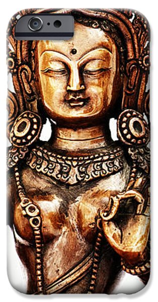 Green Tara iPhone Case by Tim Gainey
