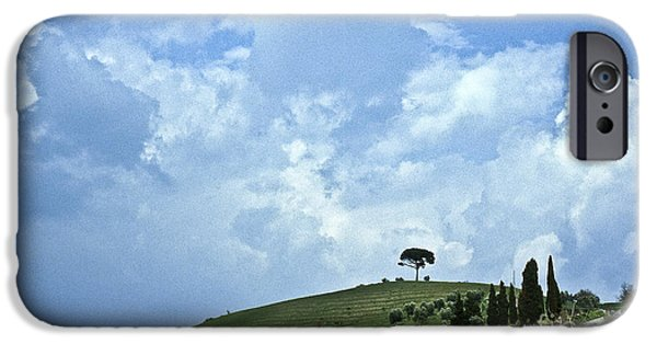 Tuscan Hills iPhone Cases - Green Tuscan hills iPhone Case by Heiko Koehrer-Wagner