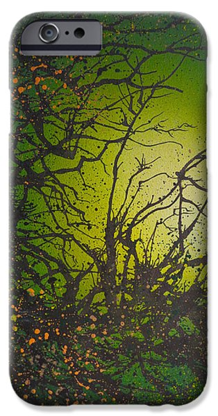 Airbrush iPhone Cases - Green Vibes iPhone Case by Emma Childs