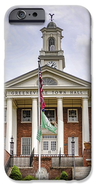 Greeneville Town Hall iPhone Case by Heather Applegate