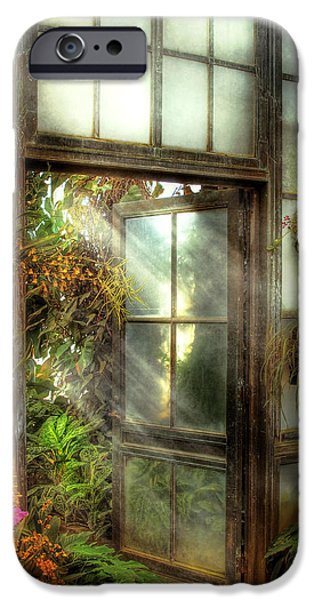 Greenhouse - The door to paradise iPhone Case by Mike Savad