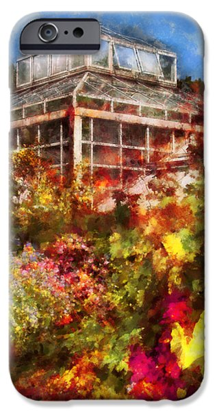 Greenhouse - The Greenhouse and the Garden iPhone Case by Mike Savad