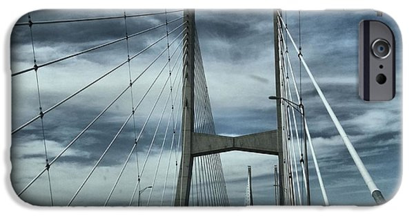 Arkansas iPhone Cases - Greenville Bridge iPhone Case by Dan Sproul