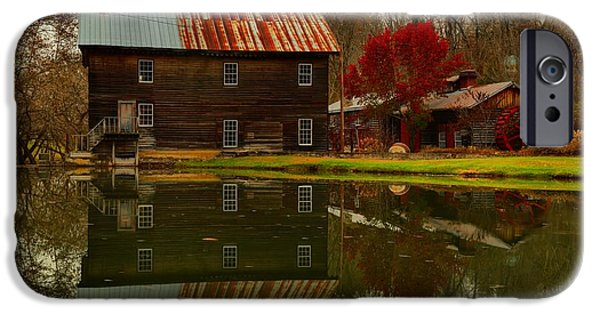 Grist Mill iPhone Cases - Greenville West Virginia Grist Mill iPhone Case by Adam Jewell