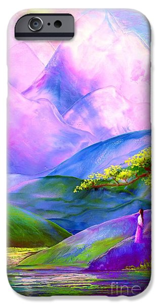 Poetic iPhone Cases - Greeting the Dawn iPhone Case by Jane Small