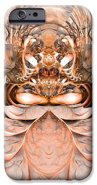 Colorful Abstract Algorithmic Contemporary iPhone Cases - Greetings inhabitants of earth iPhone Case by Sipo Liimatainen