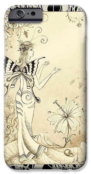 Pleasure Drawings iPhone Cases - Greetings of the Sun iPhone Case by Alan Adrian Styx