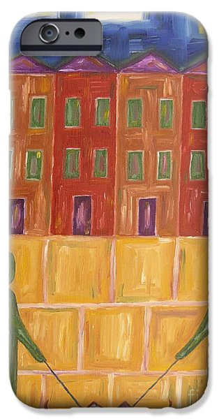 House Pet Paintings iPhone Cases - Greetings iPhone Case by Patrick J Murphy