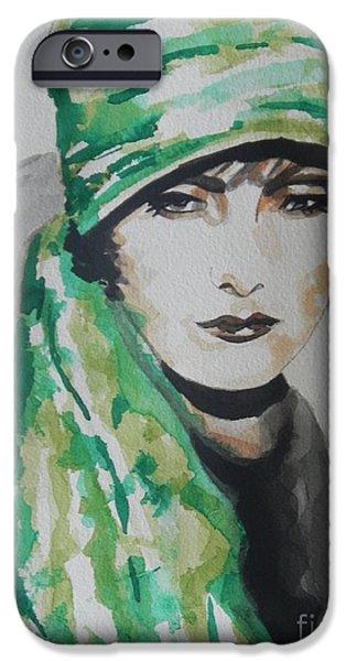 Model iPhone Cases - Greta Garbo iPhone Case by Chrisann Ellis