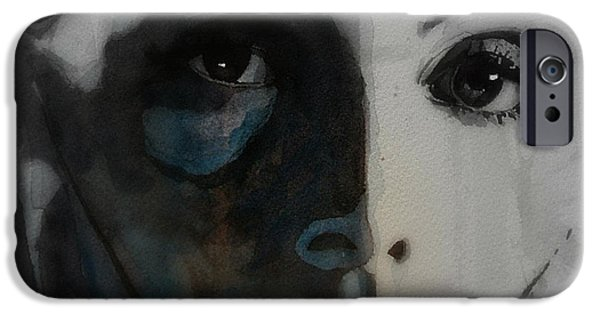 Lips iPhone Cases - Greta Garbo iPhone Case by Paul Lovering