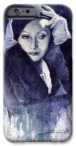 Greta Garbo iPhone Case by Yuriy  Shevchuk