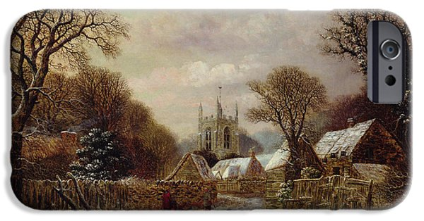 Bare Tree iPhone Cases - Gretton in Northamptonshire iPhone Case by Charles Leaver