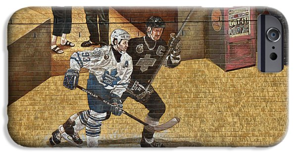 Wayne Gretzky iPhone Cases - Gretzky and Gilmour 2 iPhone Case by Andrew Fare