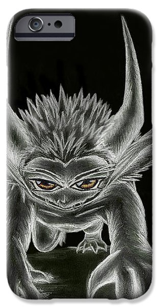 Grevil Statue iPhone Case by Shawn Dall