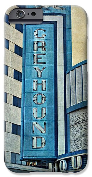 Evansville iPhone Cases - Greyhound Sign iPhone Case by Sandy Keeton