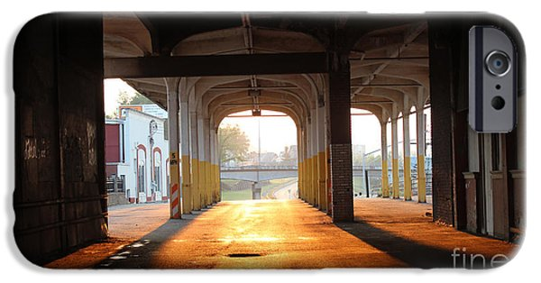 Old Bus Stations Photographs iPhone Cases - Greyhound Sunset iPhone Case by Howard Tenke