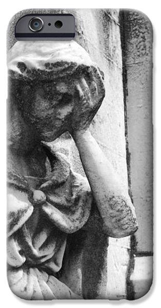 Grieving Statue iPhone Case by Jennifer Lyon