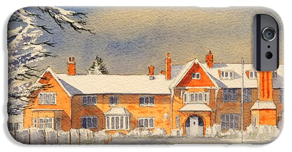 Griffin iPhone Cases - Griffin House School - Snowy Day iPhone Case by Bill Holkham
