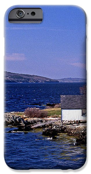 GRINDEL POINT LIGHTHOUSE iPhone Case by Skip Willits