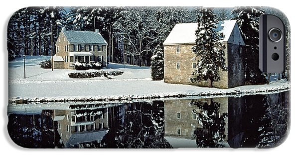 Creek iPhone Cases - Grings Mill Snow 001 iPhone Case by Scott McAllister