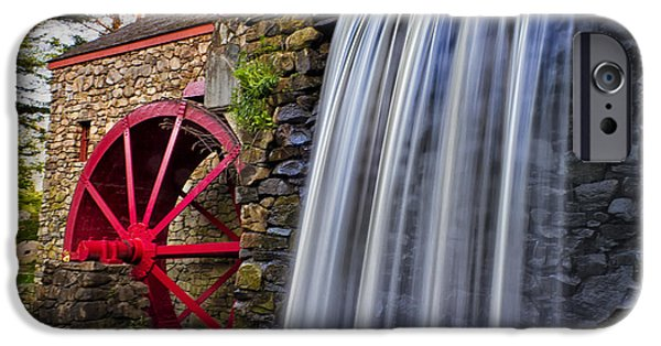 Sudbury Ma iPhone Cases - Grist Mill 6581 iPhone Case by Karen Celella