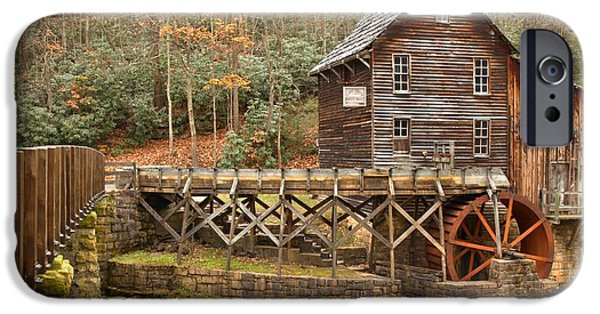 Grist Mill iPhone Cases - Grist Mill Across Glade Creek iPhone Case by Adam Jewell