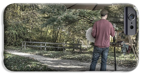 Painter Photographs iPhone Cases - Grist Mill Artist iPhone Case by Mark Valentine