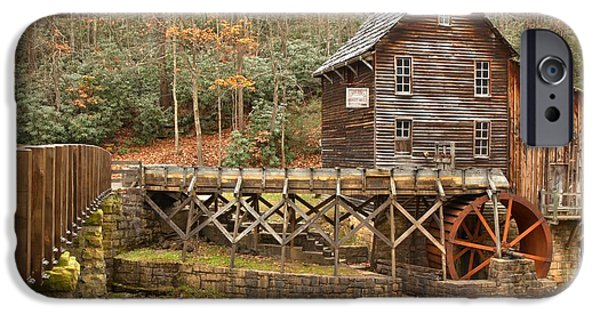 Grist Mill iPhone Cases - Grist Mill At Babcock State Park iPhone Case by Adam Jewell