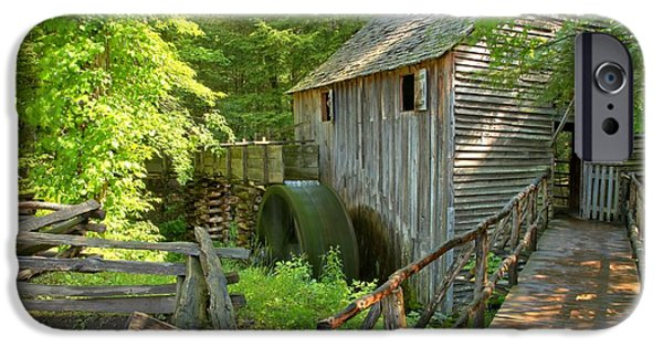 Grist Mill iPhone Cases - Grist Mill At Cades Cove iPhone Case by Adam Jewell