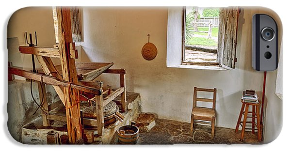 Grist Mill iPhone Cases - Grist Mill at Mission San Jose - San Antonio Texas iPhone Case by Silvio Ligutti