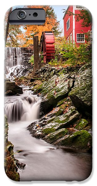 Grist Mill iPhone Cases - Grist Mill-Bridgewater Connecticut iPhone Case by Thomas Schoeller