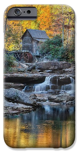 Creek Pyrography iPhone Cases - Grist Mill  iPhone Case by Daniel Behm