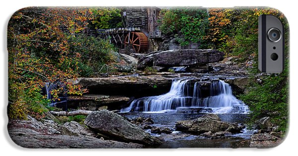 Grist Mill iPhone Cases - Grist Mill Falls iPhone Case by Lone  Dakota Photography