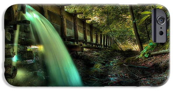 Grist Mill iPhone Cases - Grist Mill Flume iPhone Case by Michael Eingle