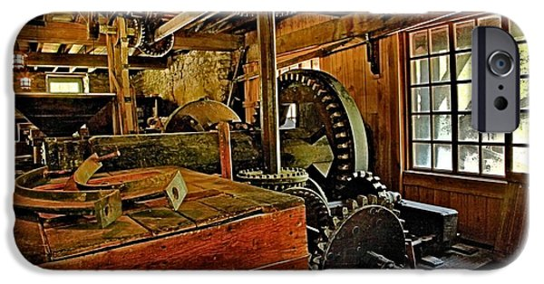 Grist Mill iPhone Cases - Grist Mill Gears iPhone Case by Adam Jewell