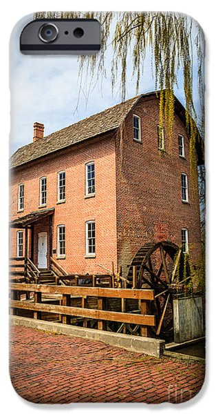 Grist Mill iPhone Cases - Grist Mill in Deep River County Park iPhone Case by Paul Velgos