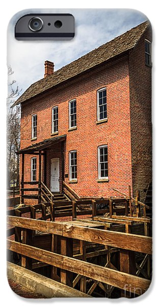 Grist Mill iPhone Cases - Grist Mill in Hobart Indiana iPhone Case by Paul Velgos