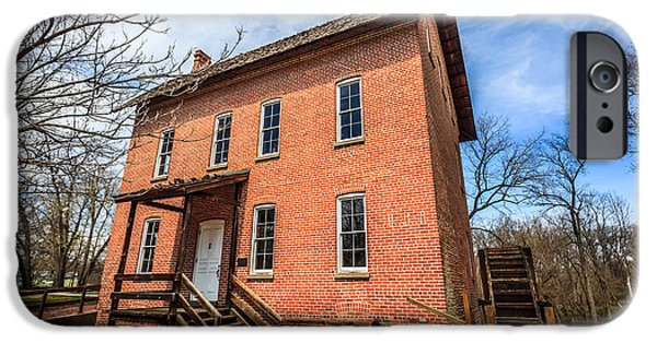 Hobart iPhone Cases - Grist Mill in Northwest Indiana iPhone Case by Paul Velgos